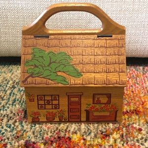 VTG 60s Gary Gail Dallas Wood House box Purse